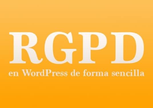 RGPD en WordPress de forma sencilla