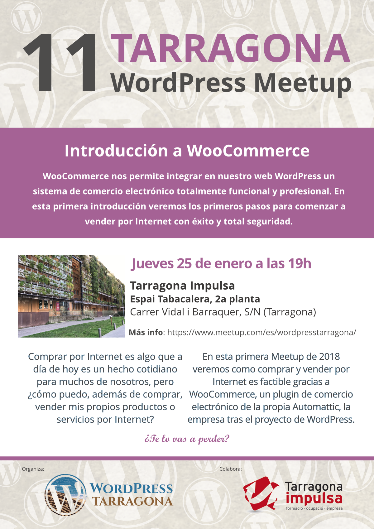 11ava Meetup de WordPress Tarragona, Introducción a WooCommerce